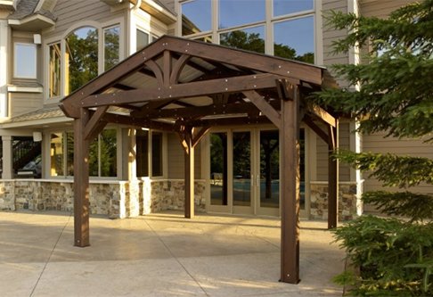 Outdoor Pergola Mocha Lodge two