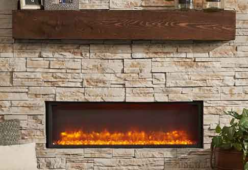 Electric Fireplaces Contemporary Living Room Dallas